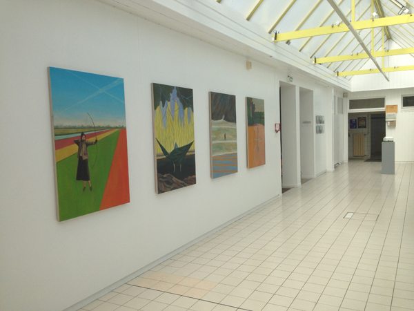 vue du hall d'exposition de l'Académie Malouine d'Arts Plastiques