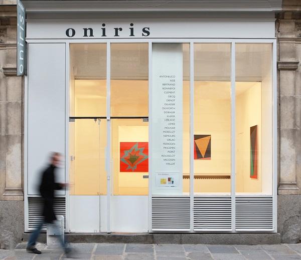 Vitrine de la galerie ONIRIS au 38 rue d Antrain a Rennes