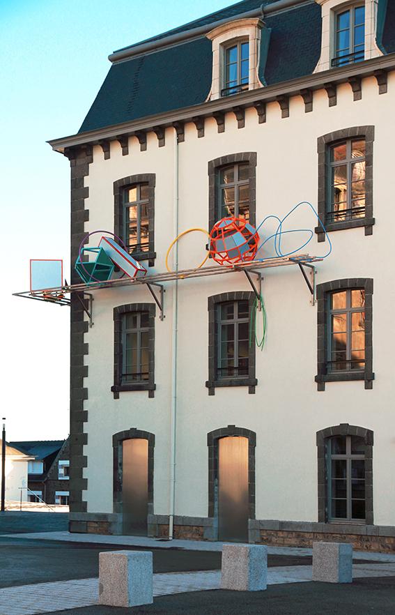 Commande publique de Vincent Mauger sur les façades ouest et nord de l'école des beaux-arts de Saint-Brieuc