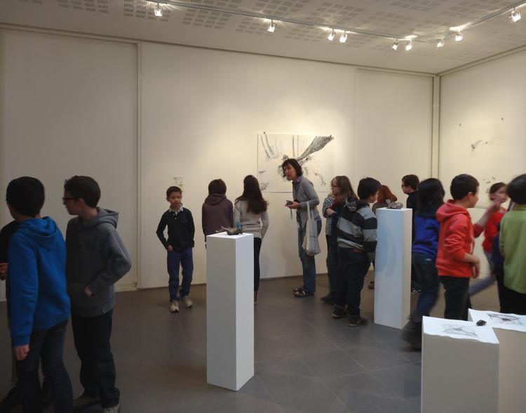Salle d'exposition - exposition Noémie Sauve, Anticlinal, 2015