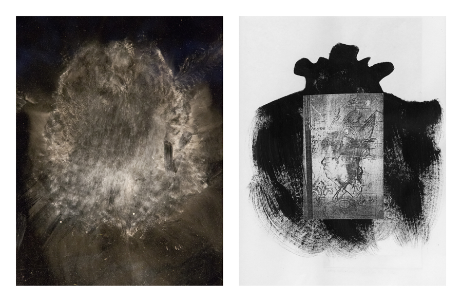 gauche : Illés Sarkantyu, 2014 droite : Jean-Pierre Vielfaure,Journal «Fragments d'une chronologie du hasard» N° 1, page 159, entre 1996-2000