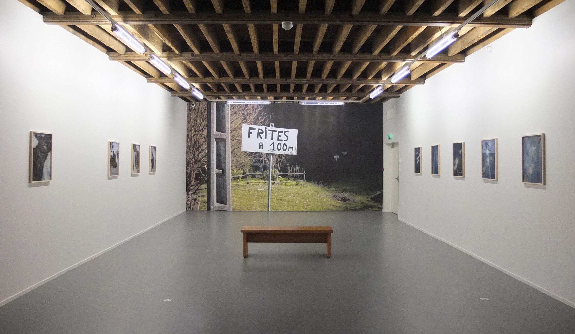 """Vue de """"Cinéma Neige"""", exposition de Philippe Durand, janvier 2016"""