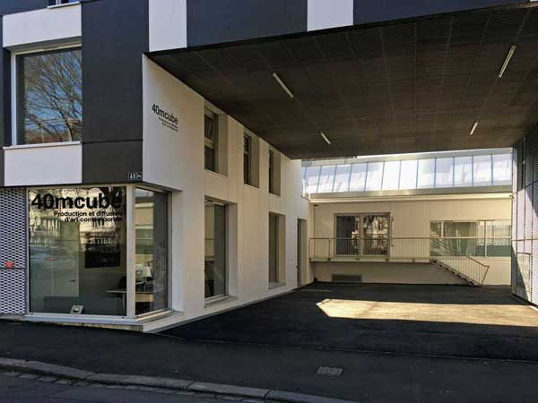 Le centre d'art contemporain 40mcube à Rennes