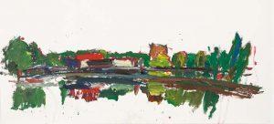 Villette, gouache sur papier, 2013, courtesy galerie Eric Dupont.