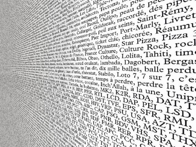 """Claude Closky """"Marabout"""", papier peint, édition FR66"""