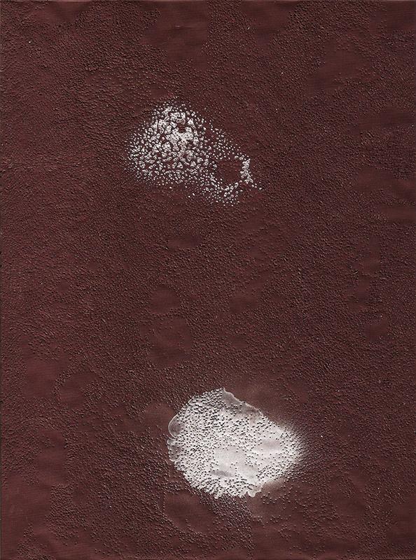 Antrax spirit Carbon, 2014, 30x20cm, peinture, impacts, papier carbone