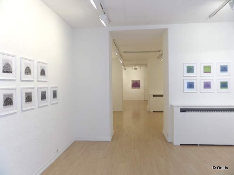 Galerie ONIRIS - Rennes - mars 2016 - Lignes ou Meule ? - depuis la porte d'entrée