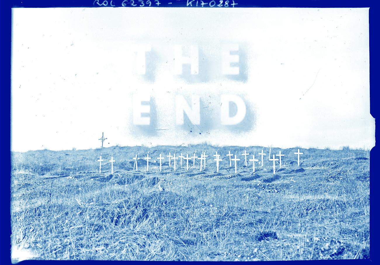 Loïc Creff, The End, 2017. Cyanotype, 50 x 70 cm