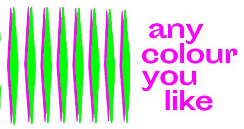 Any colour you like par les étudiants en communication de l'EESAB-site de Rennes