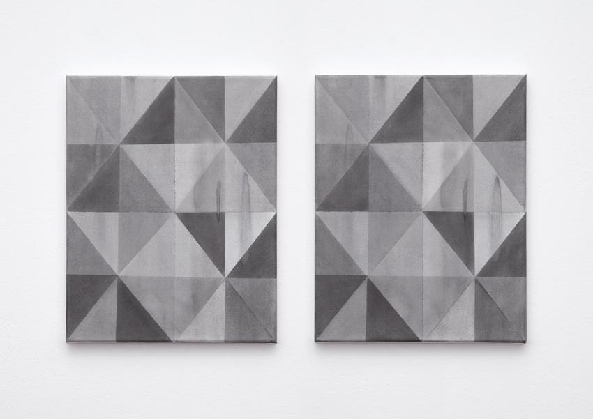 Ivan Liovik Ebel, Loop, 2014. Huile sur toile. 38 x 30 cm (diptyque). © Ivan Liovik Ebel
