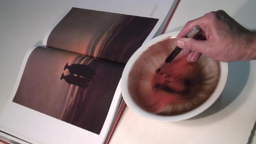 SARKIS,  Deux hommes au crépuscule : D'après Caspar David Friedrich, 7 janvier 2007, Vidéo, durée: 4'56'', Collection Frac Bretagne, © Adagp, Paris, Crédit photographique : André Morin.