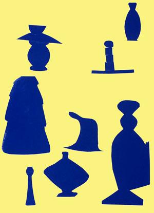 Les vases bleues