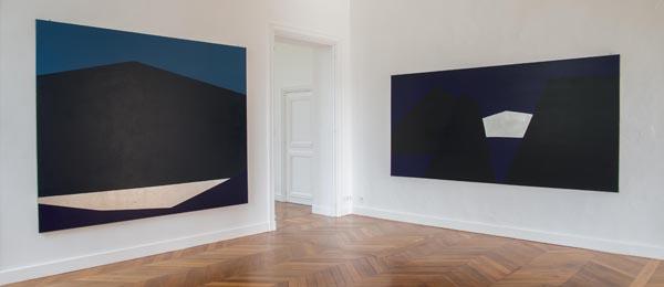 Vue de l'exposition Anna-Eva Bergman à Kerguéhennec